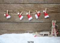 Thin Vinyl Photography Wooden Wall Backgrounds Computer Printed Children Christmas Photography Backdrops For Photo Studio 5x7ft