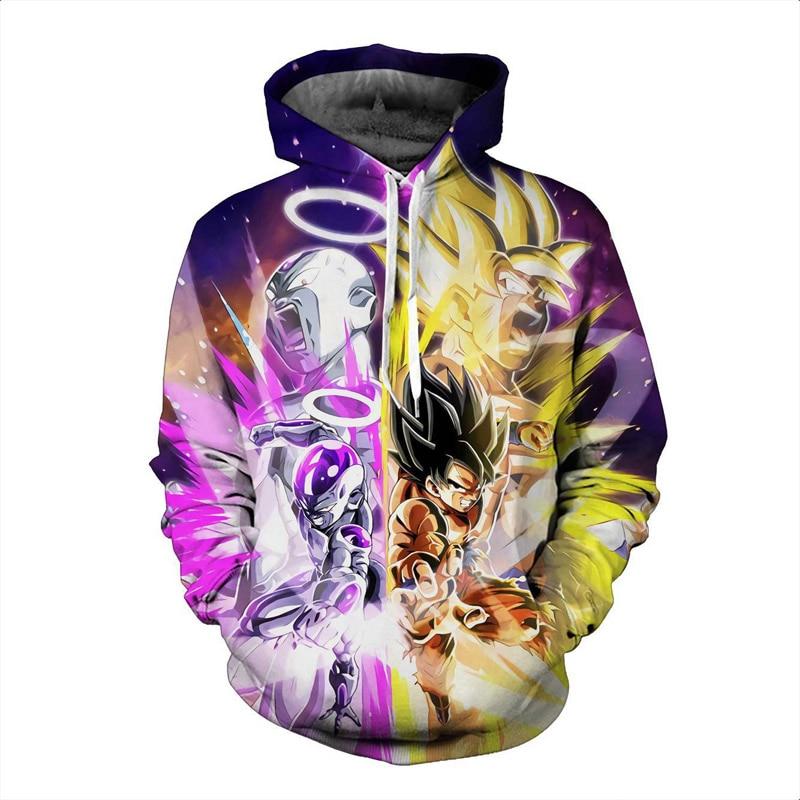 US $18.41 40% OFF Dragon Ball Z Goku Frieza Hoodies Männer 3D Gedruckt Pullover Sweatshirts Dragonball Z Hoodie Super Saiyan Goku Jacke Kleidung in