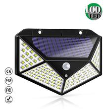 Solar Light 2019 New Security Wall with 100 LEDs Motion Sensor IP65 Waterproof 3 Mode for Front Door Garage Patio