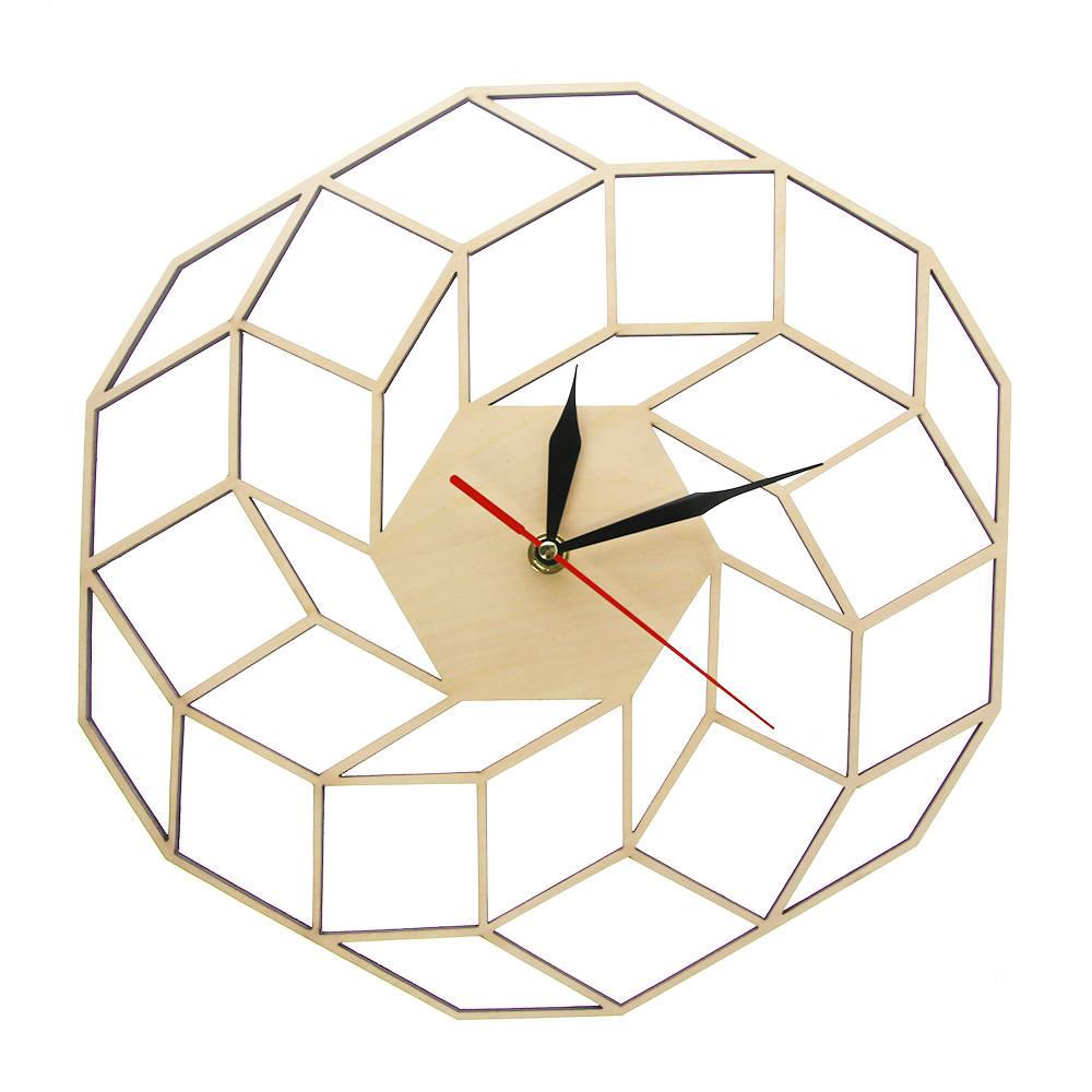 Us 16 99 15 Off Dreamcatcher Wooden Wall Clock Home Kitchen Decor Wall Art Modern High Quality Handmade Geometric Silent Movement Clock Watch In