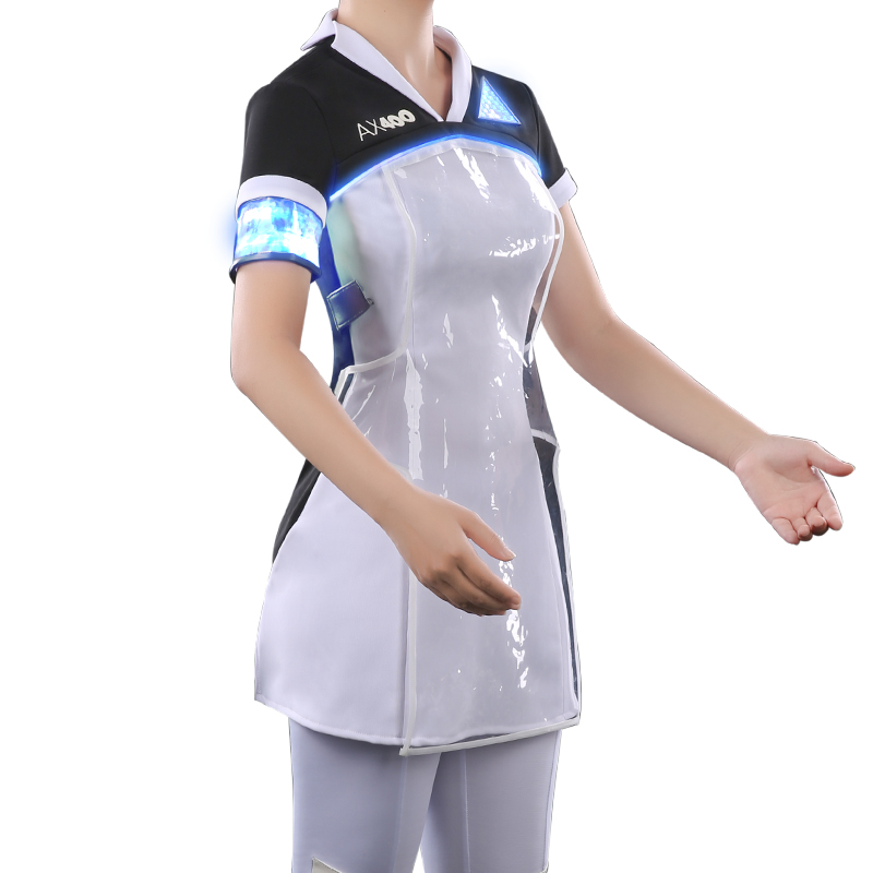 UWOWO Anime Game Detroit: Become Human Kara Cosplay Costume Women Girls White Costumes Dress Full set
