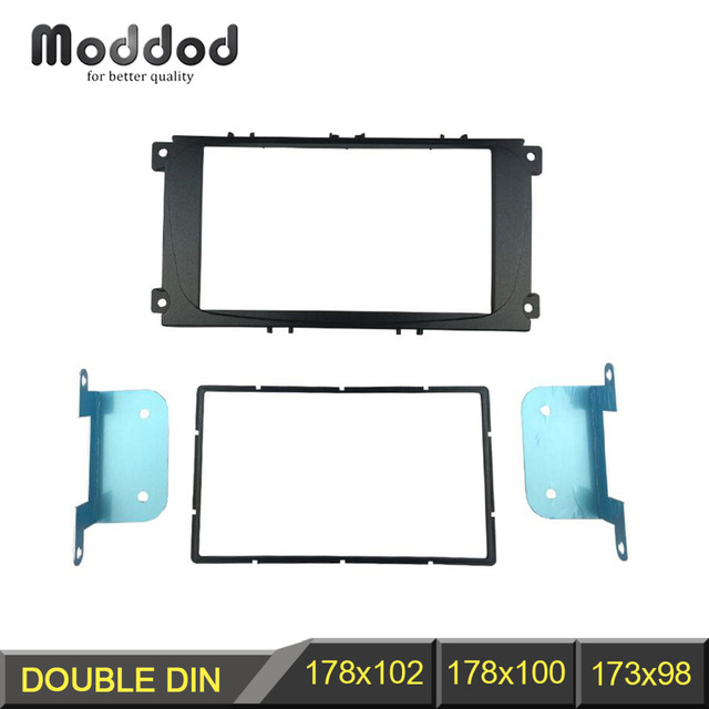 2 Din Car Radio Fascia for Ford Focus II Mondeo Kuga S-Max C-Max Galaxy II Stereo Dash Kit Fit Installation Trim Facia Frame