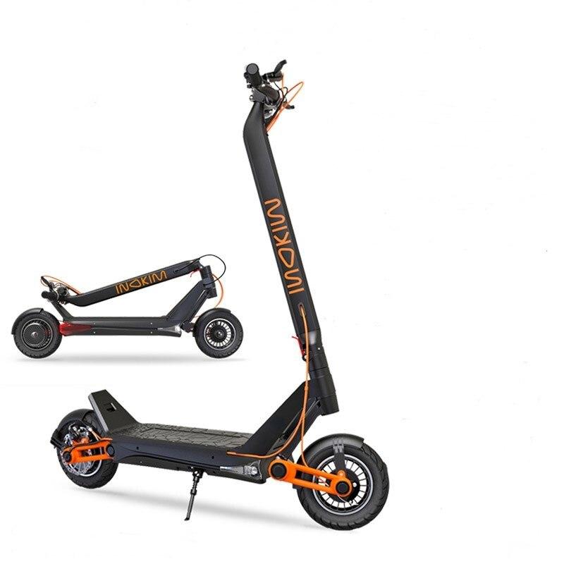 Électrique scooter croix pays véhicule deux roues pliage unique dur lithium batterie performance adulte double lecteur