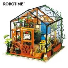 Robotime 5 видов DIY Кукольный дом с мебели для детей и взрослых миниатюрный кукольный домик деревянные наборы игрушка DG