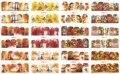 12 Hojas/porción BN505-516 Otoño Árbol y Hoja de La Cubierta Completa de Uñas Nail Art Sticker Decal Agua Para Agua de Uñas (12 DISEÑOS EN 1)