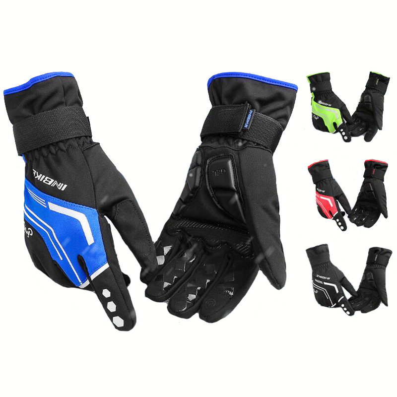 Winter Warm Ski Gloves Reflective Bicycle Snow Gloves Waterproof Snowmobile Skiing Gloves Motorcycle Riding Snowboard