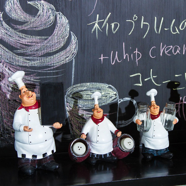 Fashion American Village Kitchener Decor Miniature Resin Chef Craft Ornaments Artificial Crafts Home Accessories