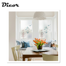 DICOR 2019 NEW Cute Little Fairy Stained Window Decorative Films Butterflies Flowers For Girls Rooms BLT337