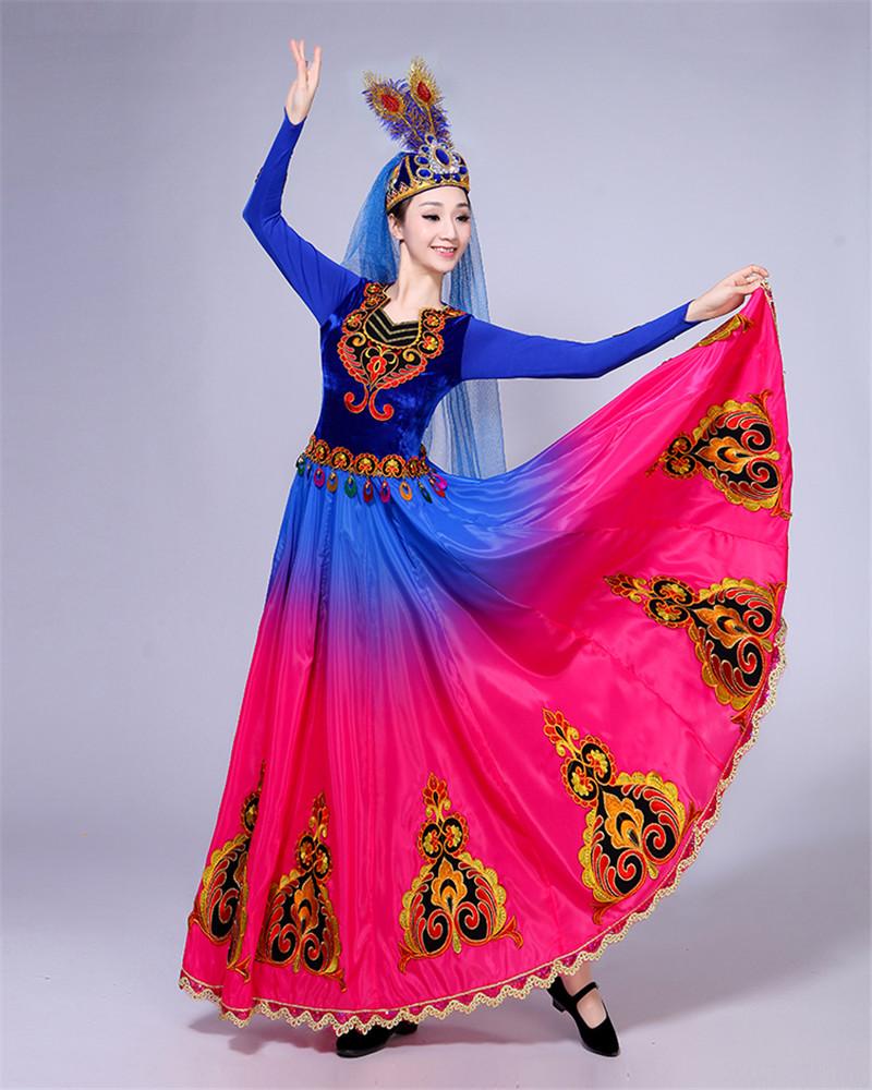 768e7cff52e0 New Xinjiang Uighur Dance Costume Female Ethnic Stage Performance ...