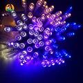 5 M 50LED LED Luz Cordas para o Feriado de Ano Novo Partido Capodanno Raw Data Do Casamento Da noite Da Lâmpada Do Jardim Ao Ar Livre Da Bateria partido