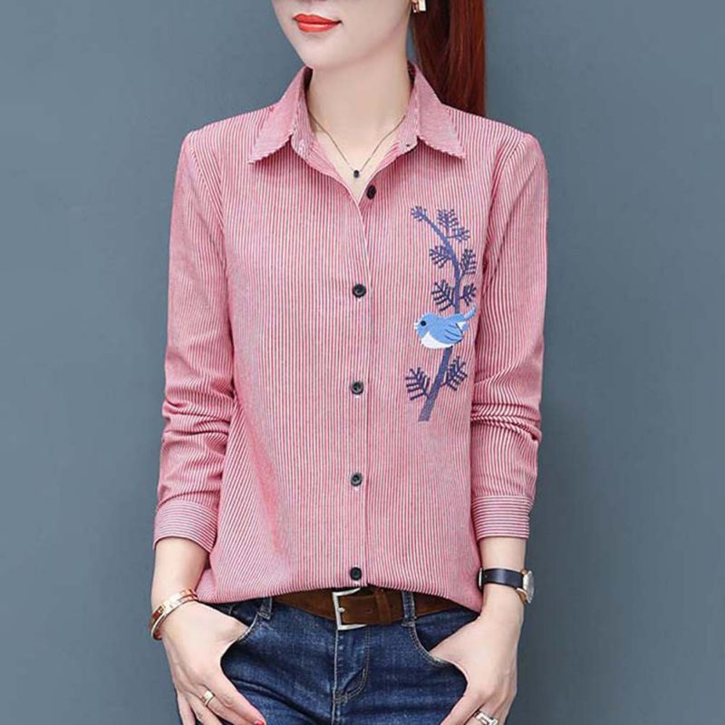 Casual Embroidery   Shirts   Women   Blouse     Shirt   2018 Long Sleeve Ladies Tops Women's Clothes Blusas