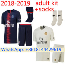 Free patch 2018 PSG Thai AAA Top quality football jerseys Qualit Men Soccer  jersey 18 19 Home blue Away red 3RD white shirt 997d075d3