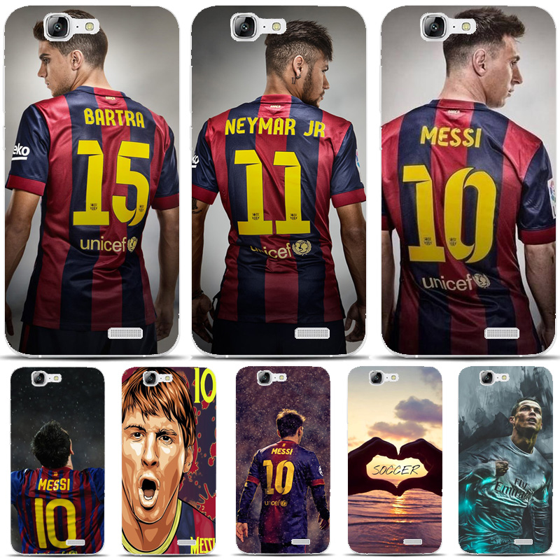 G498 Fashion Soccer Player Transparent Hard Thin Skin Case Cover For Huawei P 6 7 8 9 10 Lite Plus Honor 6 7 8 4C 4X G7