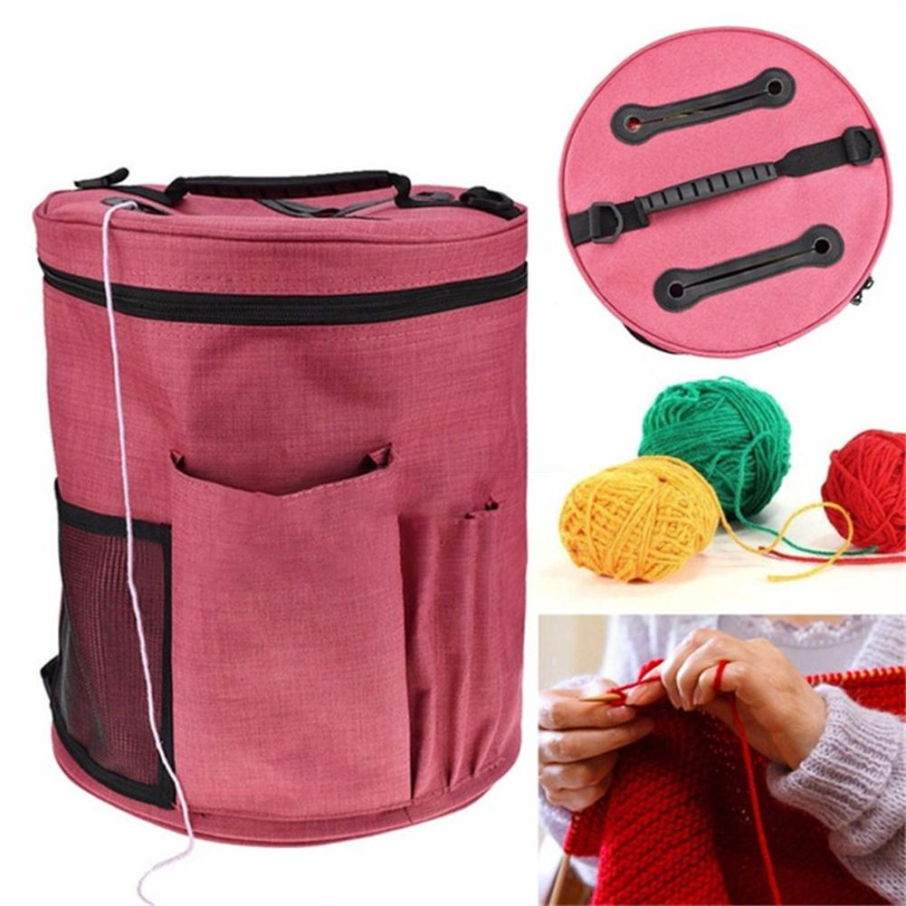 Image 2 - TPFOCUS Casket Storage Bag Crochet Wool Container Large Capacity Knitted Container-in Storage Bags from Home & Garden