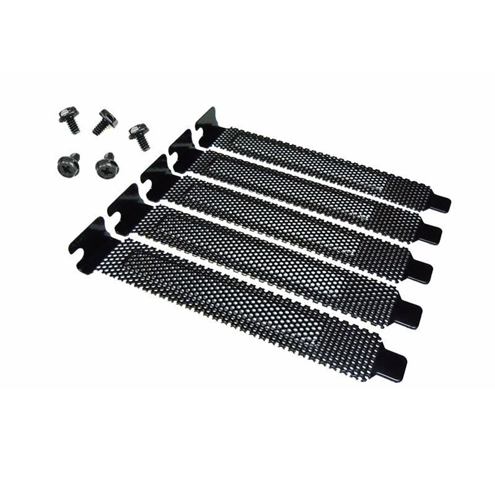 5pcs Slot Cover Dust Filter Blanking Plate Hard Steel Black Computer Case Parts