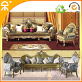 1+1+4 seat /lot fabric luxury villa sofa set