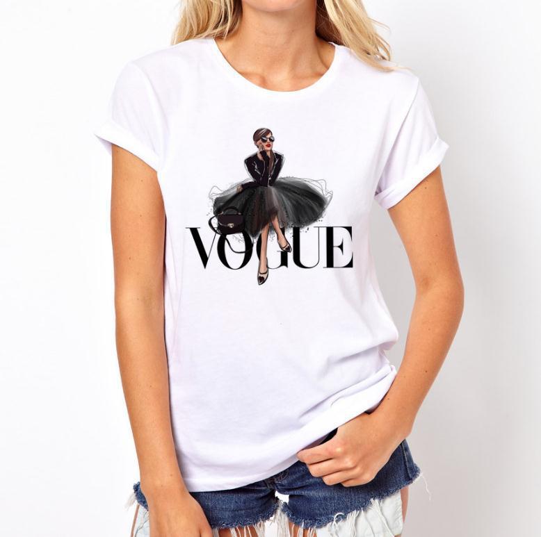 Camisetas Verano Mujer 2019 Thin Section T Shirt Vogue Letter Harajuku Female T-shirt Leisure Fashion Aesthetic Tshirt