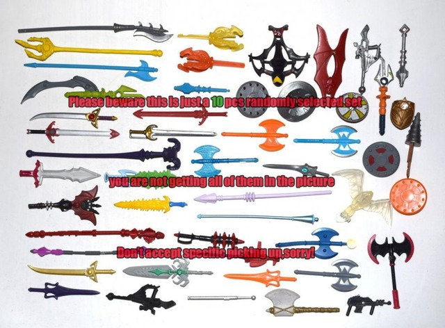 Lot of 10 Random He-man Masters of the Universe Classics Figure Weapon Accessory