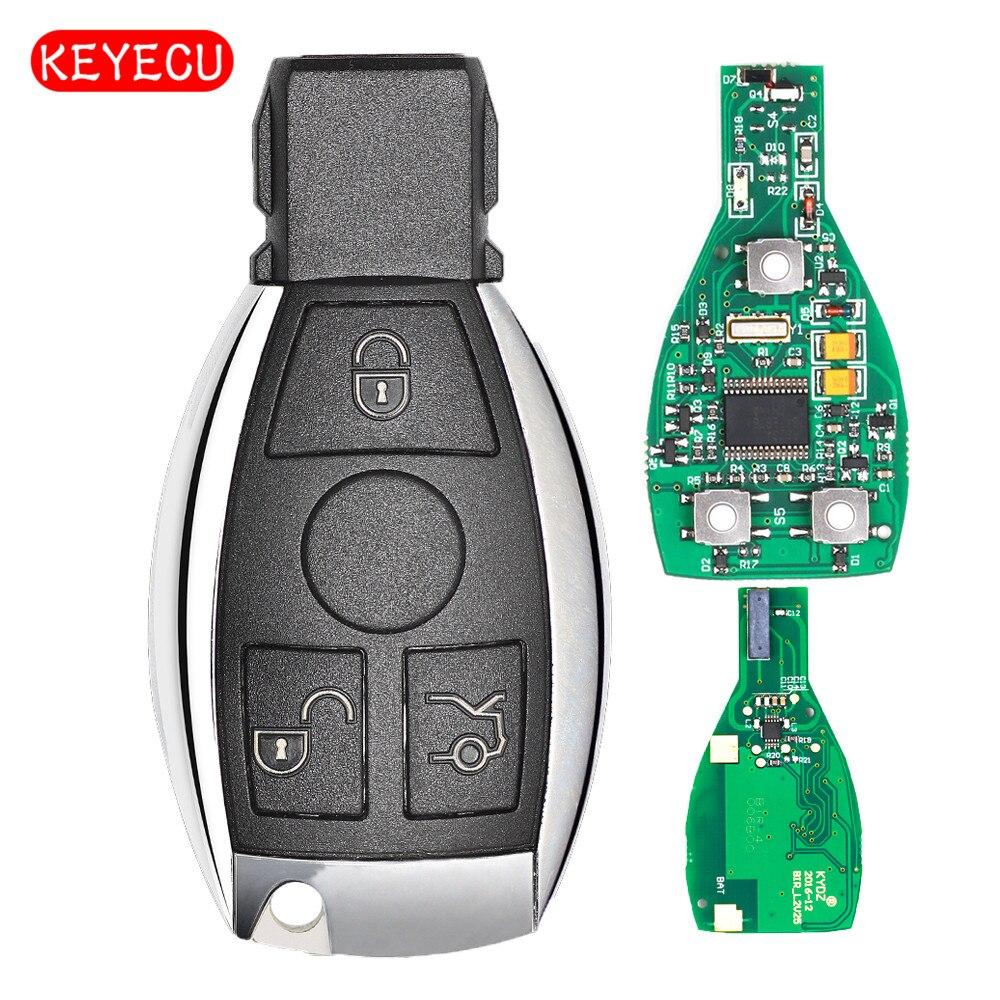 Keyecu Smart Key 3 Tasten 315 MHz 433 MHz für Mercedes Benz Selbstfernschlüssel Unterstützung NEC Und BGA 2000 + jahr