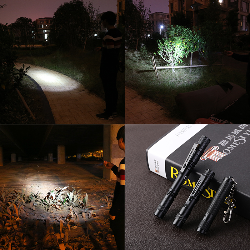 Mamba Portable Mini Penlight XPE R3 LED Flashlight Torch Hugsby XP 1 Pocket Light 1 Switch Modes Outdoor Camping Light USE AAA in LED Flashlights from Lights Lighting