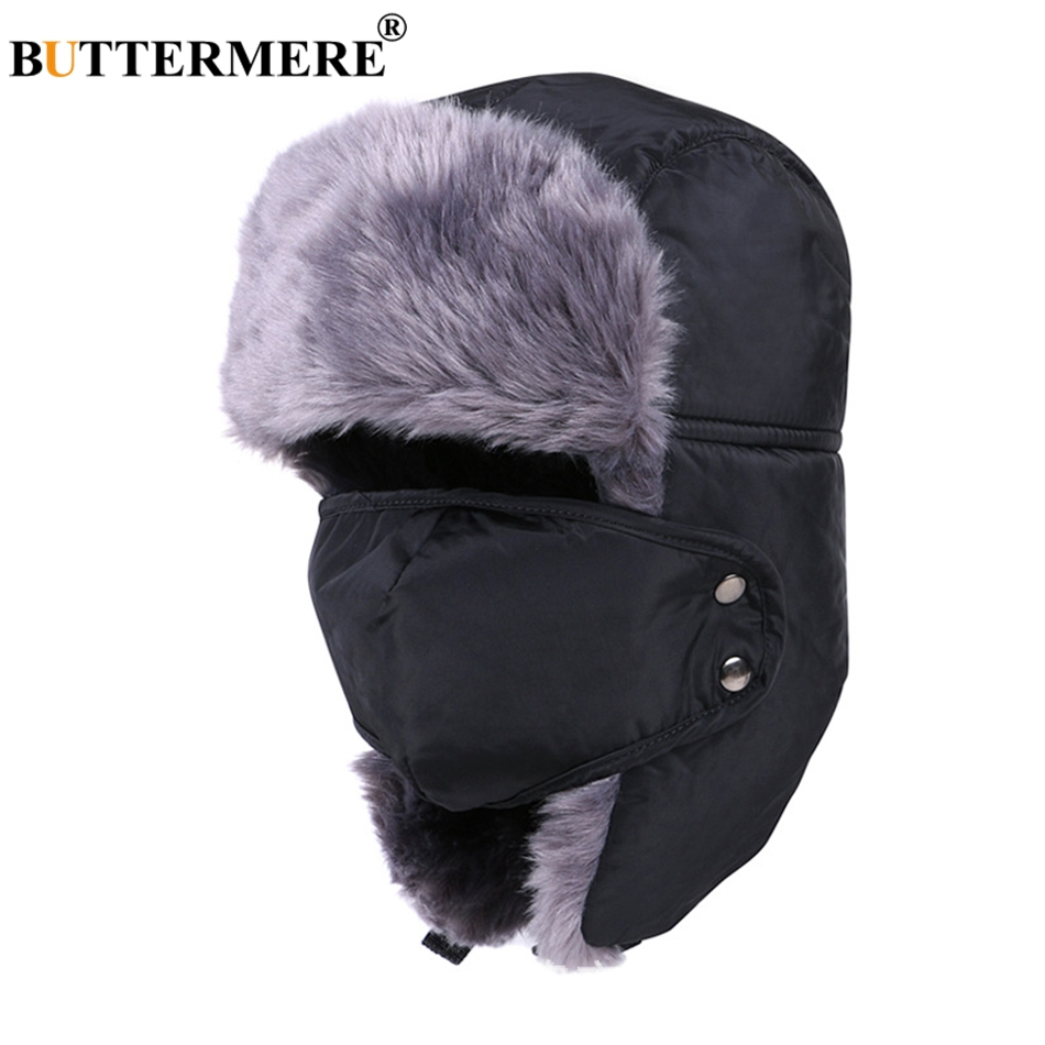 Features  Fur Hat Russian Winter   Bomber Hats For Men   Snow Ushanka Hat  Gray f8e6cc9fc8a9