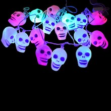 LED Skull Strip Light 2.5M 16Leds Holiday Lighting for Festival Halloween Decoration String Lamp Nightlights VBZ25 P34