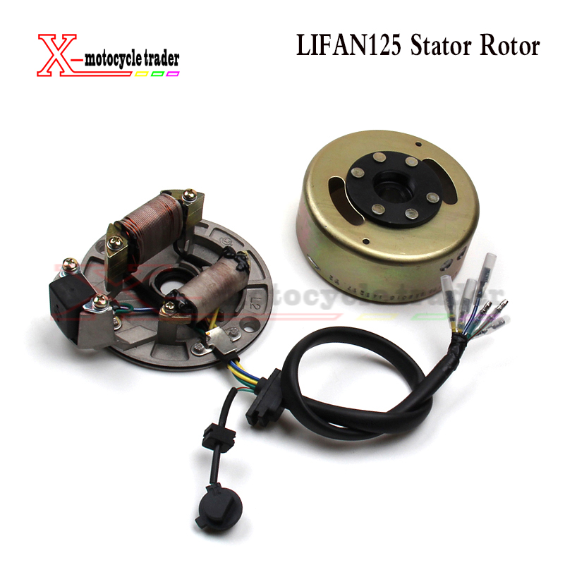 US $37 05 5% OFF|Chinese bike LIFAN 125 125cc MAGNETO STATOR FIT For LIFAN  125cc ENGINE PIT DIRT BIKE MOTORCYCLE-in Turbos & Parts from Automobiles &