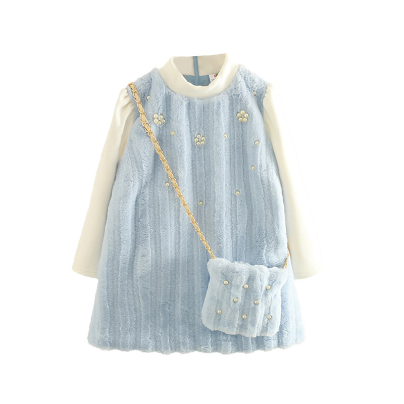 2018 autumn winter baby girl thickening dress kids plus velvet dress girl party dresses clothes2018 autumn winter baby girl thickening dress kids plus velvet dress girl party dresses clothes
