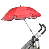 Stroller Umbrella Nylon Sun Canopy UV 360 Degrees Adjustable Baby Stroller Accessories for Kinderwagen Poussette Bike Rain Cover