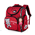 High quality 3D children school bag kid students Free doll waterproof backpack cool travel cartoon large capacity bag child gift