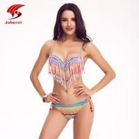 Brésilienne Gland Maillots De Bain Push Up Bikini Marque Femmes Bikini Set Dames Sexy Fringe Maillot de Bain Femmes Maillot De Bain Femme AL1702
