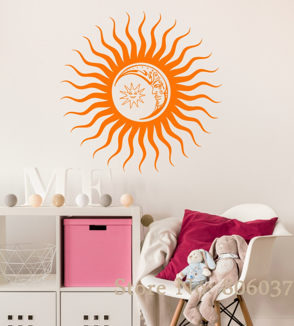 Décoration Murale Vinyle Us 9 68 25 Off Vinyl Wall Decal Sun Moon Dreams Diy Bedroom Decoration Stickers Art Fashion Home Decor Mural Vinyl Self Adesivo Decal Wa 27 In Wall