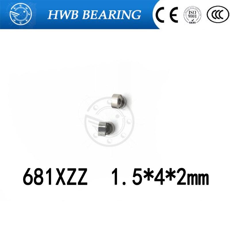 Free Shipping 10 PCS 681XZZ ABEC-5 Bearings 1.5x4x2 mm Miniature Ball Bearings L-415ZZ W68/1.5ZZ 1.5*4*2mm free shipping 10 pcs open type mr85 bearings 5x8x2 5 mm miniature ball bearings l 850 mr85