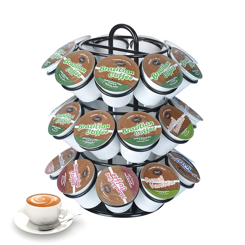 Coffee Pod Holder Dispenser Coffee Capsules Tower Stand Coffee Capsule Storage Shelves For 27pcs Dolce Gusto Coffee Capsules