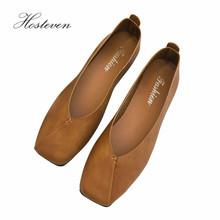 Hosteven Women Shoes Sneakers Leather Flats Loafers Shoes Fe
