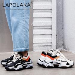 Lapolaka/Новая мода 2019 большой размеры 35–42 Лидер продаж, летние туфли женские кроссовки на платформе со шнуровкой мягкие кроссовки Женская
