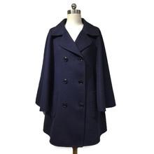 Arlene sain custom the new Classic fashion double-breasted double-sided cloak shawl cashmere wool coat free shipping