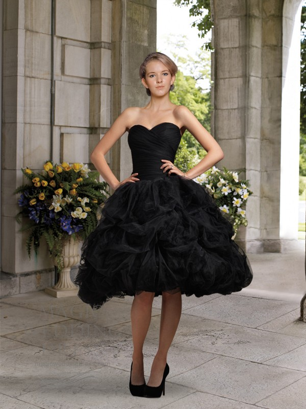 Popular Knee Length Black Wedding Gown-Buy Cheap Knee Length Black ...