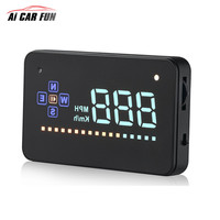 A2 Universal 3.5 Screen Auto Vehicle GPS HUD Car Display Speedometers Overspeed Warning Clock Head up Display , plug and play