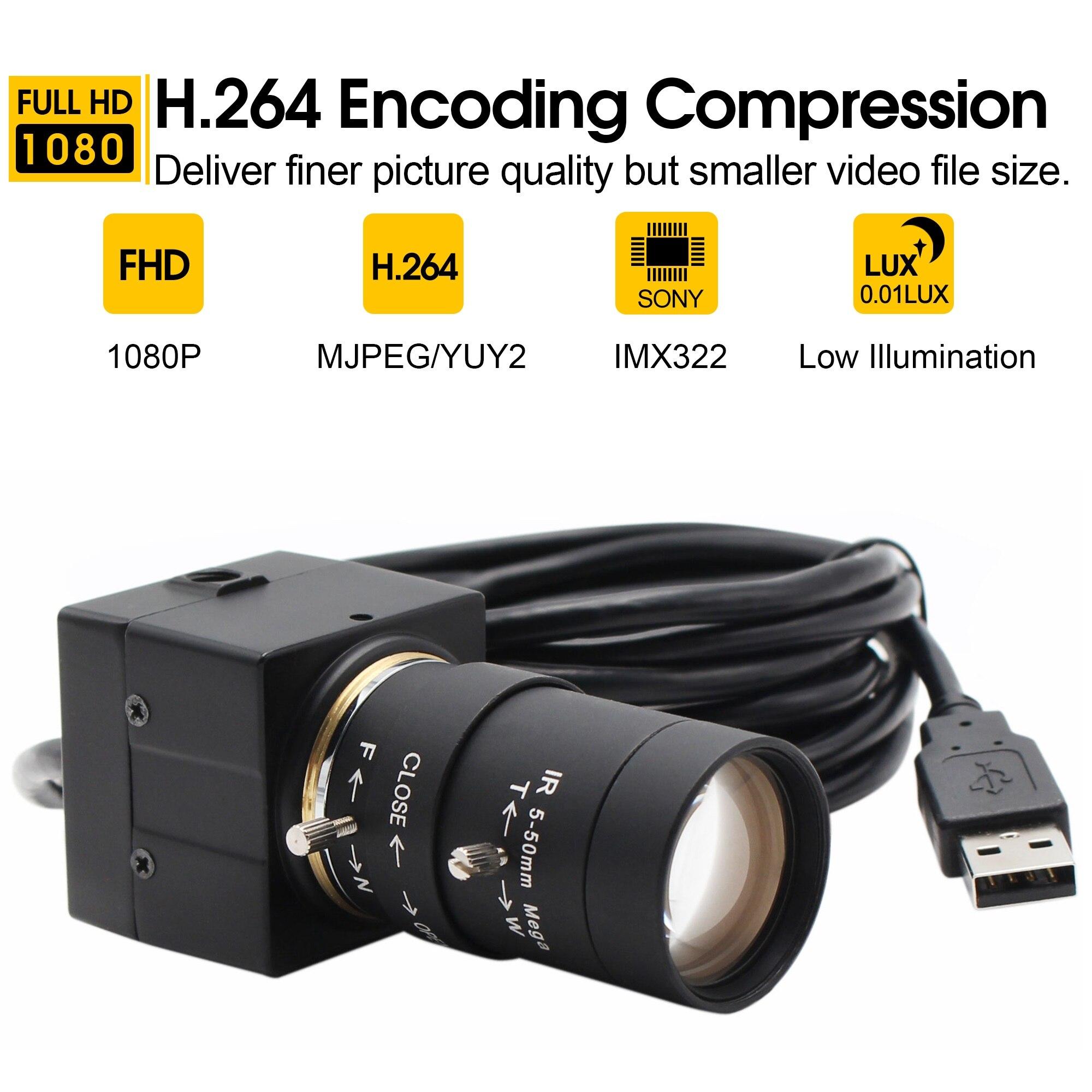 2MP 1080P caméra de Surveillance Sony IMX322 capteur H.264 faible éclairage 0.01Lux industrielle Vision industrielle Mini caméra vidéo usb-in Caméras de surveillance from Sécurité et Protection on AliExpress - 11.11_Double 11_Singles' Day 1