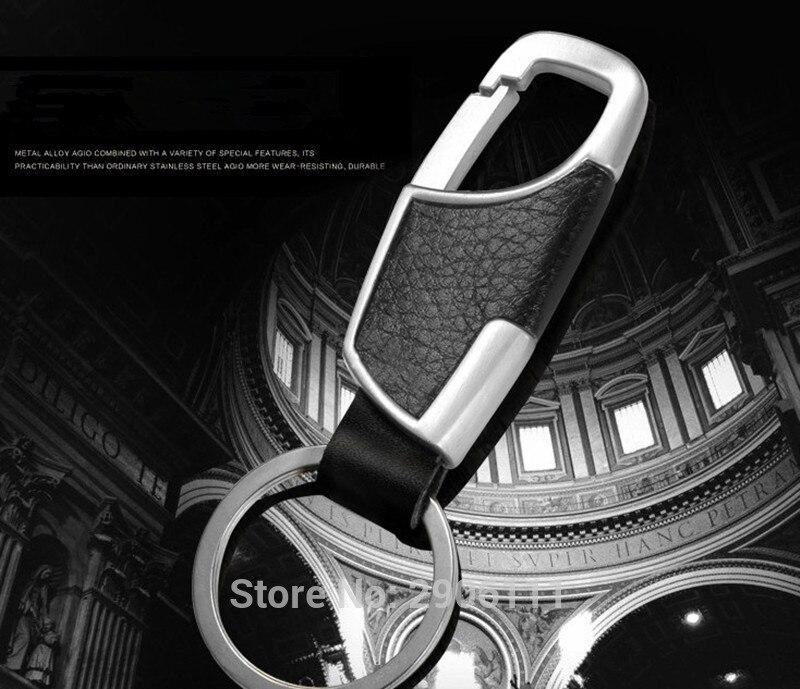 Тюнинг автомобилей кожаный брелок металлический Ключи кольцо многофункциональный инструмент Key Holder для Jaguar XF XE X-Тип XJ s -типа F-темп XFR