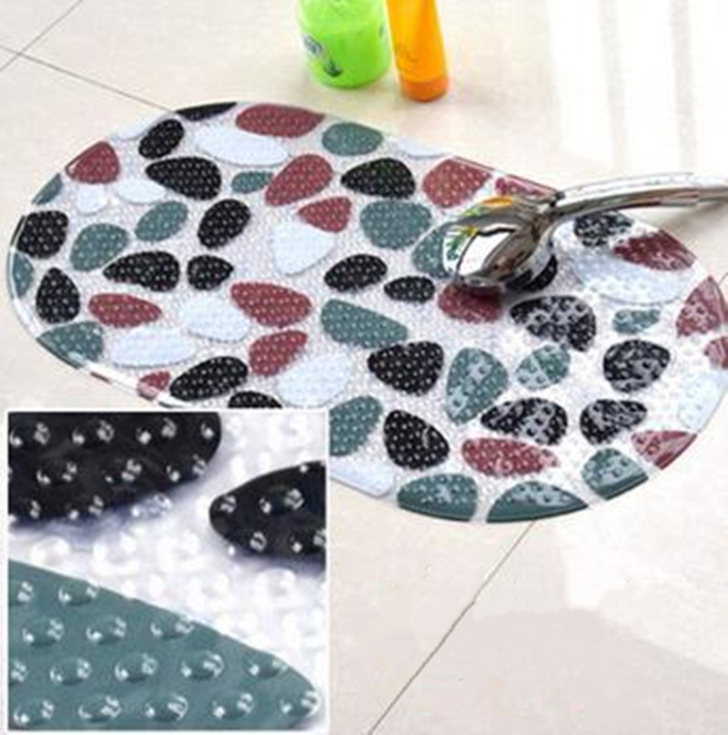 PVC suction cup thickened cartoon pattern safety slip rug bathroom children shower carpets for bathroom 700 * 370mm ...