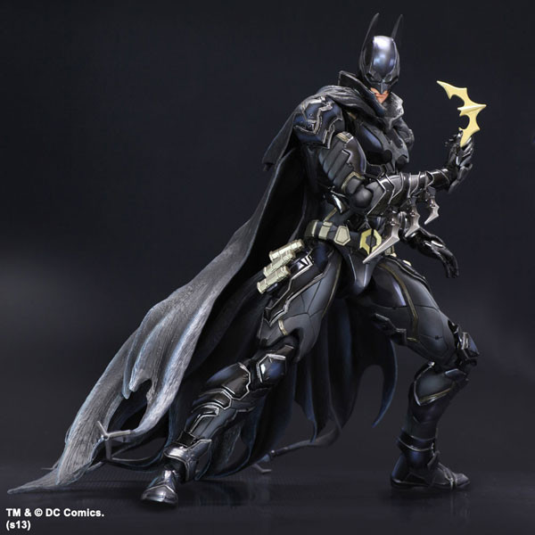 SAINTGI Batman v Superman Dawn of Justice Arkham Knight Batman Blue limited Doll DC Super Heroes PVC 27CM Model Toy play arts saintgi play arts the flash spartans batman v superman dawn of justice arkham dc pvc 25cm action figure collection model toy