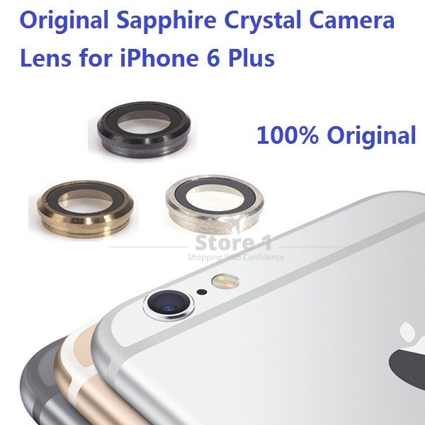 100% Original for Apple iPhone 6 Plus Camera Lens; Sapphire Crystal Back Camera Glass Lens with Frame for iPhone 6 Plus 5.5 inch 1