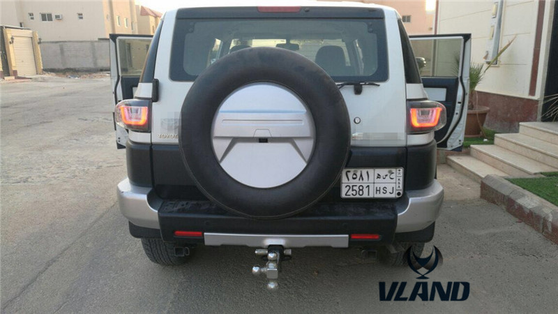free shipping Vland Car Tail Lamp for Toyota FJ Cruiser Taillight LED Light Bar Daytime Running Light Fit Year Model 2007-14 free shipping vland car lamp for toyota