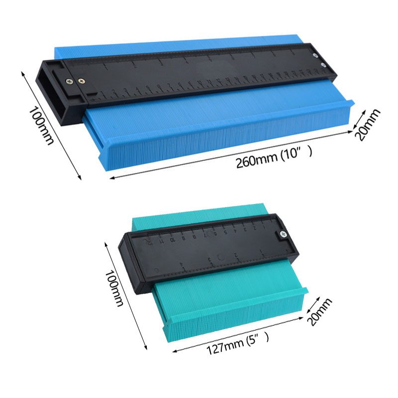250mm/120mm Plastic Profile Copy Gauge Contour Gauge Duplicator Standard Marking Tool Tiling Laminate Tiles General  Tools