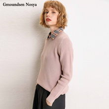 2019 Autumn And Winter new sweater women Round neck sweaters pullover women cashmere sweater women fashion Wild knitted sweater цена