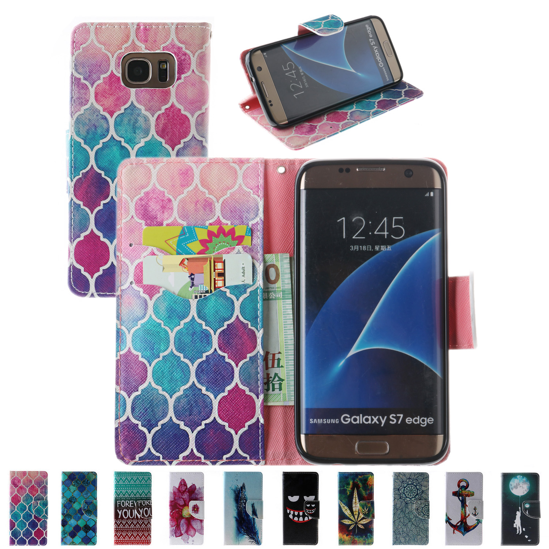 Lemonlan Dessin Animé de Mode En Cuir Portefeuille Filp Téléphone cas Pour  Samsung Galaxy S7 S7edge S6 S6 Bord S5 G900 Couverture de Support Fente  Pour ... d6b92526cbf