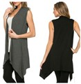 New Long Cardigans Women Summer Asymmetric Knitted Sweater Sleeveless Solid Loose Cardigan Feminino Women Shrugs Tops