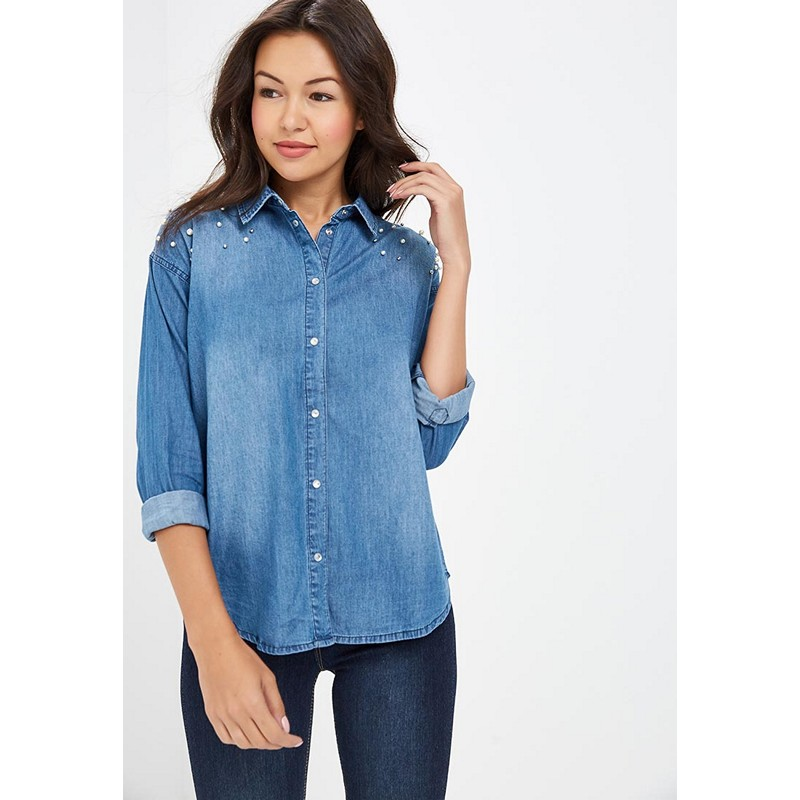 Blouses & Shirts MODIS M182D00023 blouse shirt clothes apparel for female for woman TmallFS dresses befree 1731075511 woman dress cotton long sleeve women clothes apparel casual spring for female tmallfs